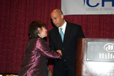 Jerilyn with Cory Booker