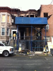 The site of a deadly fire in the Bronx last weekend at 2321 Prospect Avenue.