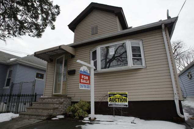 A Queens home in foreclosure. Photo: AP/Frank Franklin II