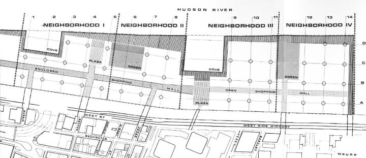 Detail of the Battery Park City Master Development Plan