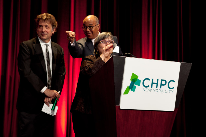CHPC President Mark Ginsberg, Chairman Richard Roberts, and Executive Director Jerilyn Perine. Image: CHPC