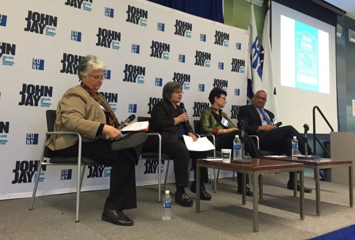 CHPC Executive Director relates the basic values of providing housing at a CUNY John Jay panel. Photo: Erin Burns-Maine