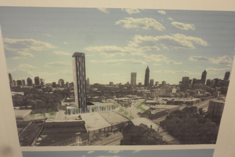 Building proposal that would be seen in the Atlanta skyline